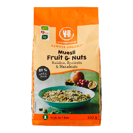 Mysli fruit & nuts Ø 650 g