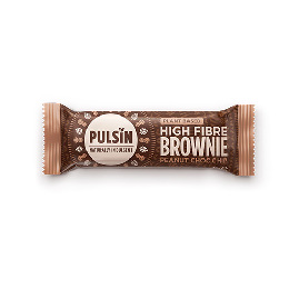 Bar med Peanut Choc chip raw choc brownie Pulsin 35 g