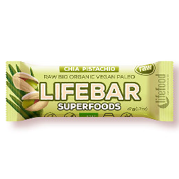 LifeBar Chia Pistacienød RAW Ø 47 g