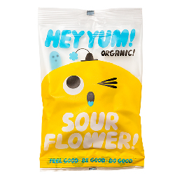 Vingummi Sour flower Ø Hey Yum 100 g