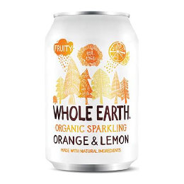 Appelsin/citron sodavand Ø Whole Earth 330 ml