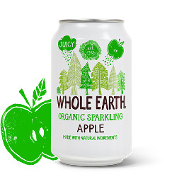 Æble sodavand Ø Whole  Earth 330 ml