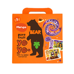 Yoyo multipak mango Bear pure fruit 5x20 gr 100 g