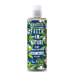 Showergel hamp & engrapgræs Faith in nature 400 ml